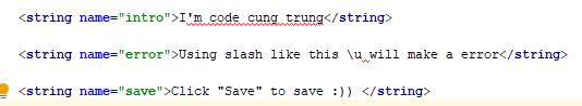 string format error